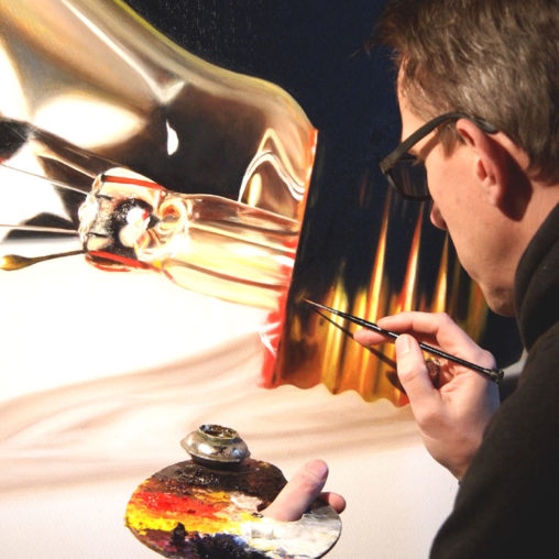 Gloeilamp schilderij - Henk Jan Sanderman